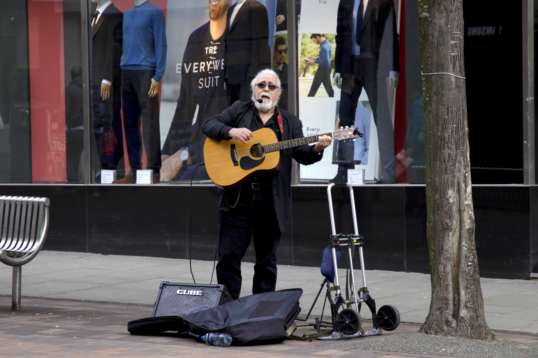 Free stock photo of music, street artist