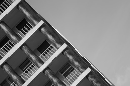 Free stock photo of building, architecture, black and white
