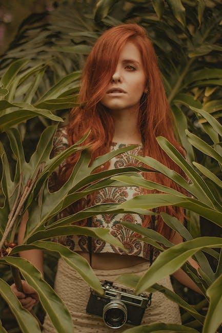 Woman standing near tree plant