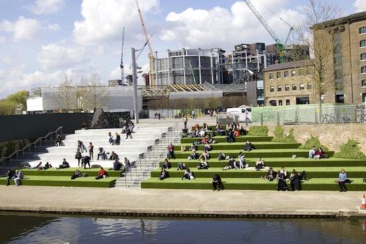 Free stock photo of street, green, london, city life