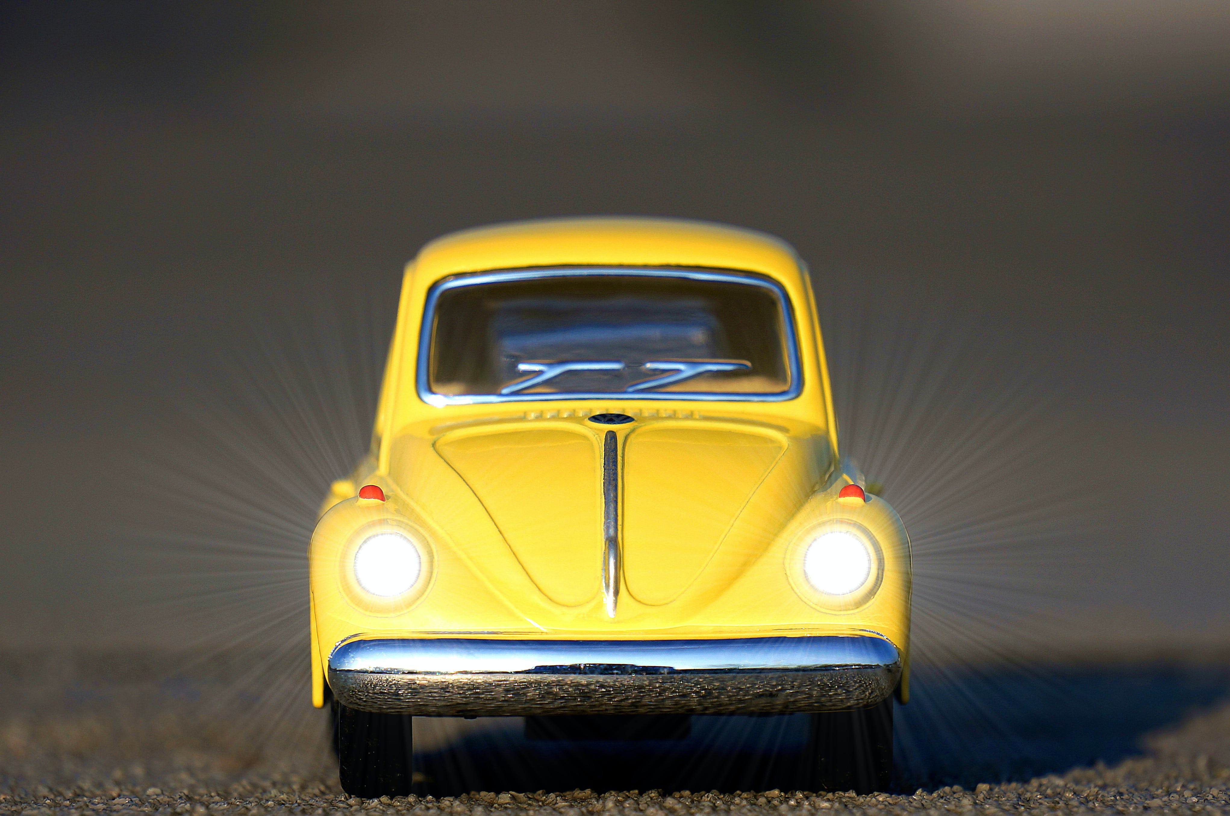 Yellow Beetle Car Die-cast Model