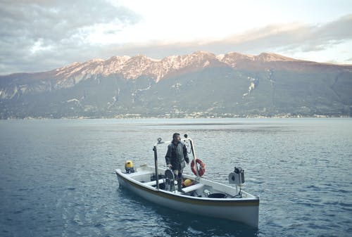 Základová fotografie zdarma na téma člun, hora, jezero, krajina