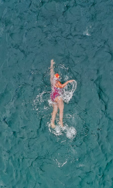 Fotos de stock gratuitas de aéreo, agua, atleta