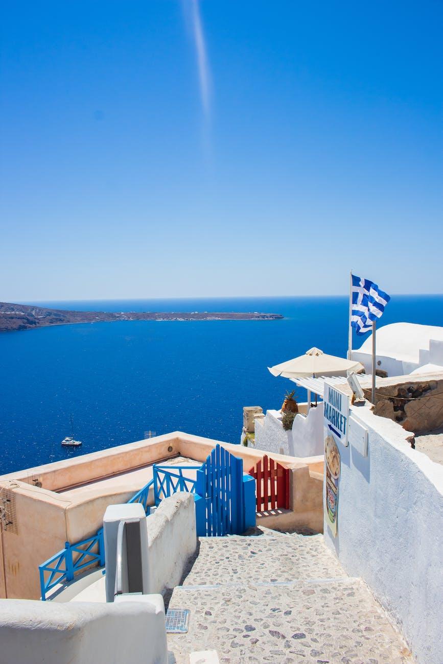 Greek Islands Landscape View