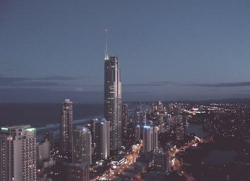 Ảnh lưu trữ miễn phí về bầu trời, các tòa nhà, cảnh quan thành phố, đêm