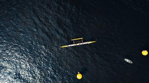 Ingyenes stockfotó csónakázás, csónakok, drón, drónfelvétel témában