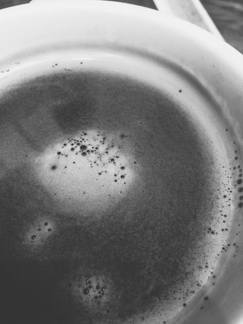 Free stock photo of black and white, black coffee, cup of coffee