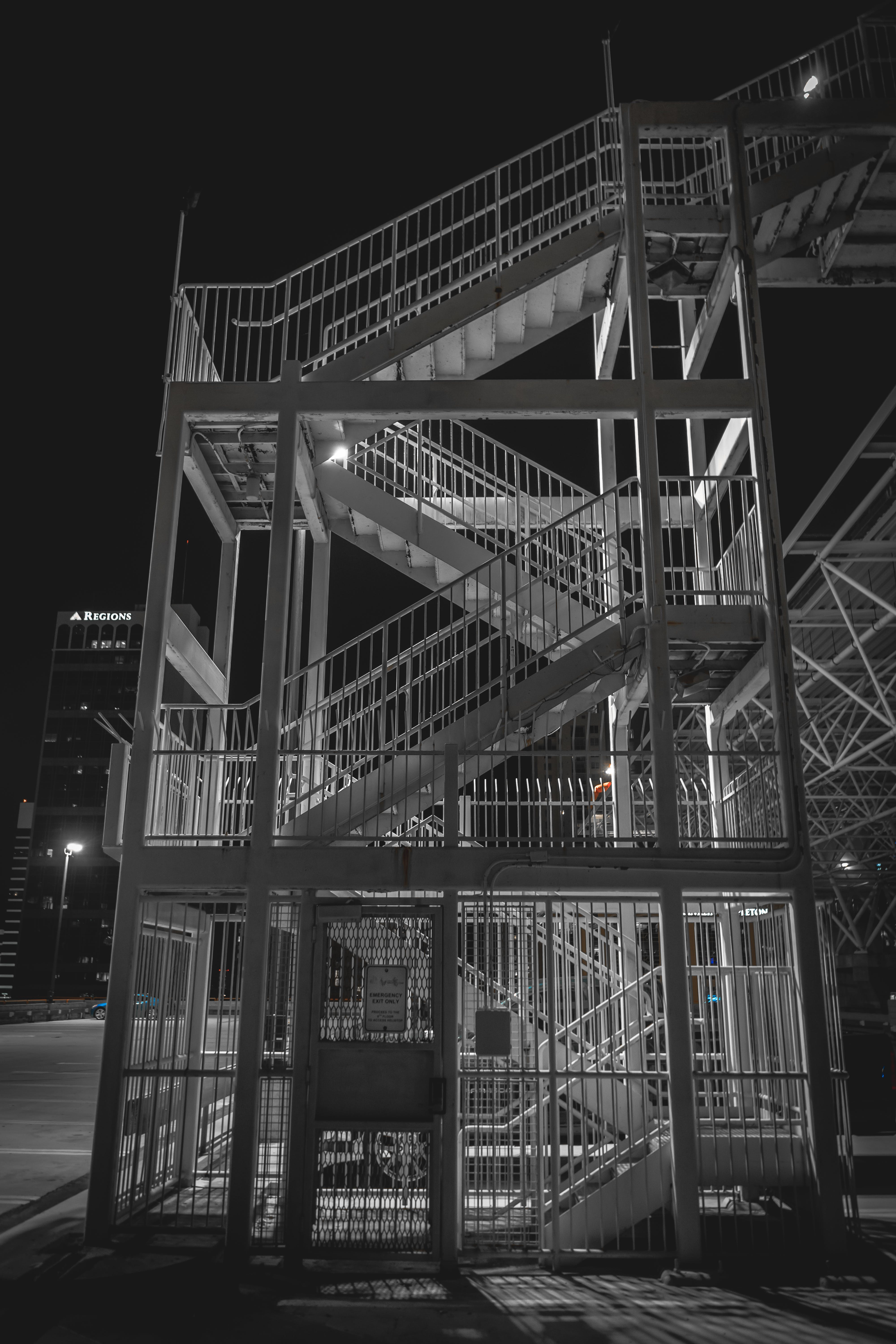 White Steel Staircase