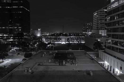 Free stock photo of #blackandwhite #architecture #city #crane #explore