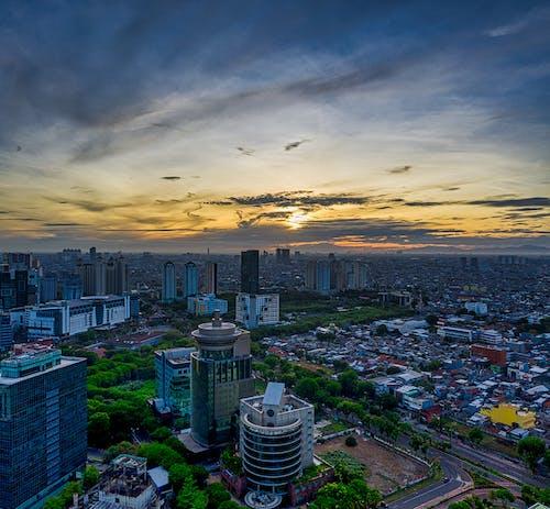 Fotos de stock gratuitas de aéreo, al aire libre, amanecer, anochecer