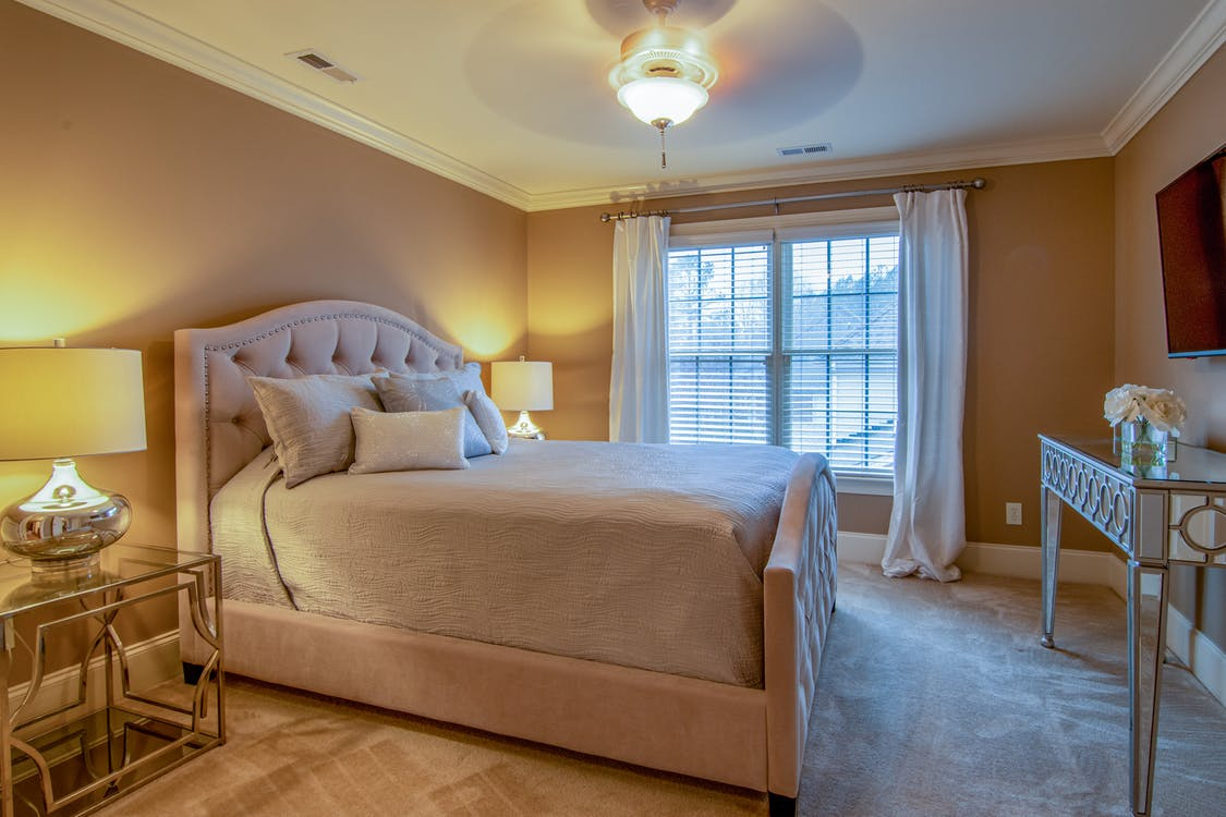 Modern Bed Inside Bedroom