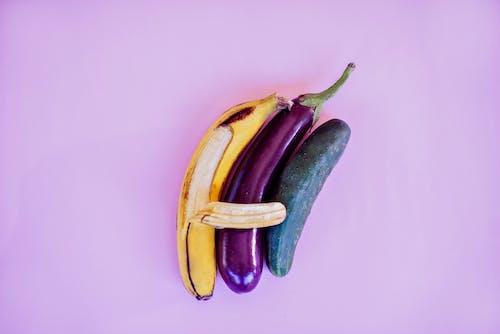 Kostenloses Stock Foto zu aubergine, banane, begrifflich, beischlaf