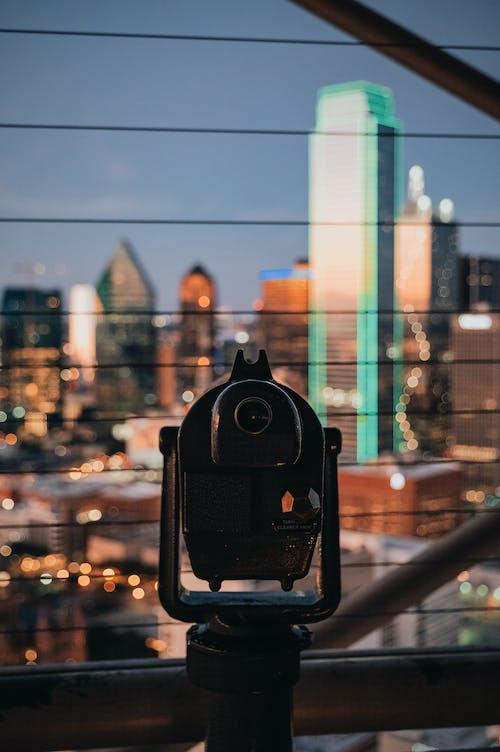 Observation platform with monocular in city