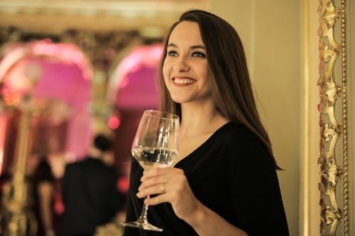 A Lovely Lady Holding Wine Glass
