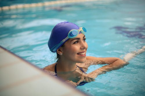 Photo of a Swimmer on Swimming Pool