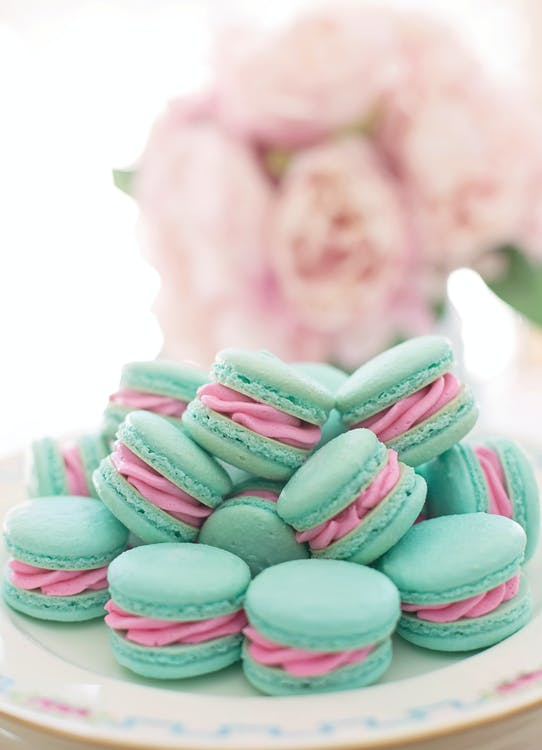 Photo of Macrons on Plate