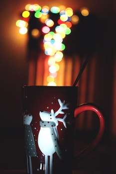 Free stock photo of art, mug, lights, dark