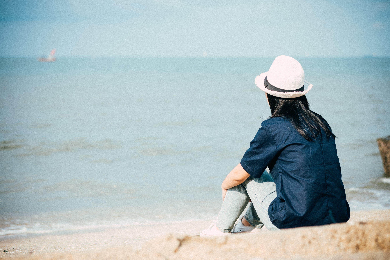 beach, female, hat