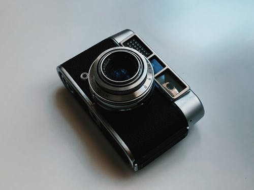 Black and Silver Point and Shoot Camera