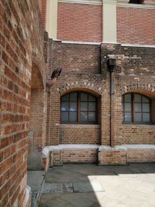 Free stock photo of brick wall, bricks, station, urban setting