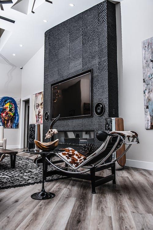 Foto profissional grátis de apartamento, arquitetura, assento, cadeira