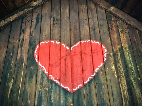 Free stock photo of cottage, heart, love