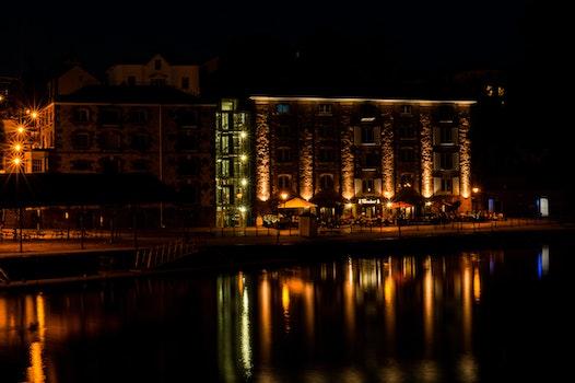 Free stock photo of lights, night, reflections