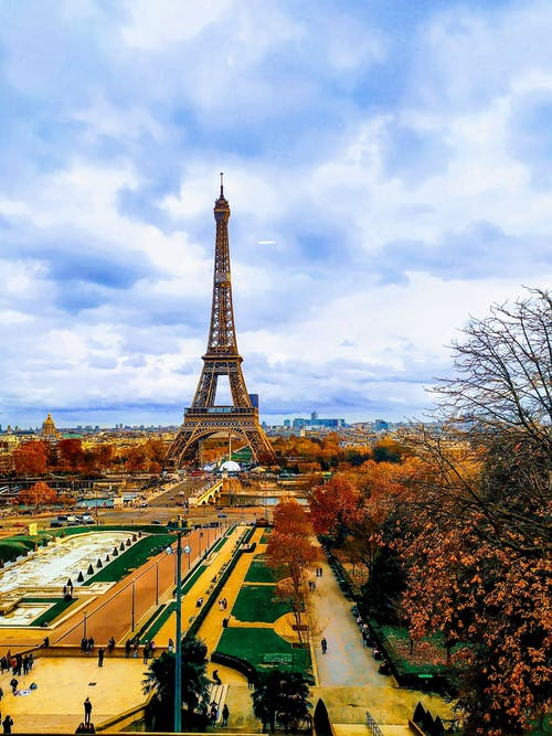 Tourist Destination of Eiffel Tower Under the Blue Sky