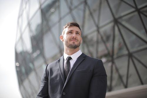 Man in Black Suit Jacket Standing