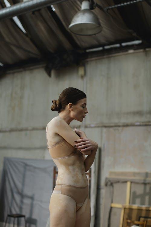 Woman Wearing Brown Underwear