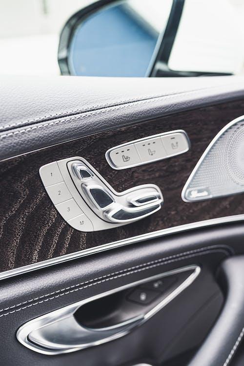 Black and Gray Car Door Panel