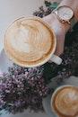 woman, coffee, cup