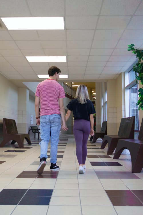 Free stock photo of couple, hallway, hands