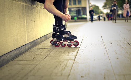 Person Wearing Roller Blades