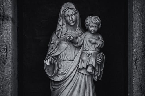 Statue of Mother and Son