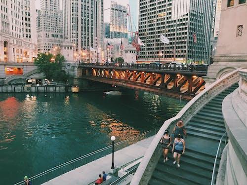 Free stock photo of bridge, chicago, city, mobile