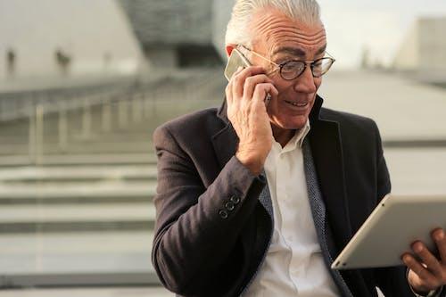 Kostnadsfri bild av affärsman, äldre, äldre man