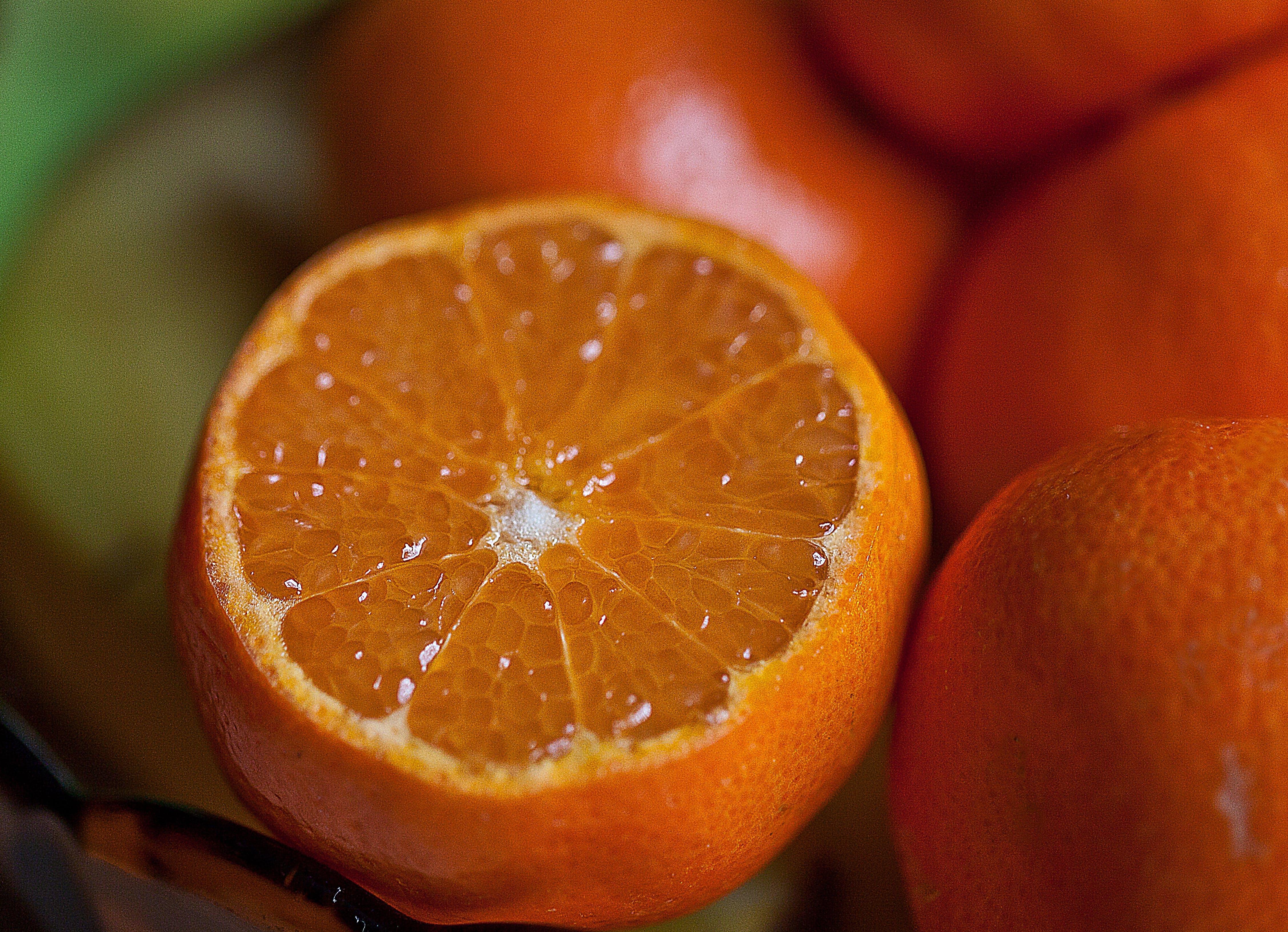 Orange Fruit Selective Focus Photography