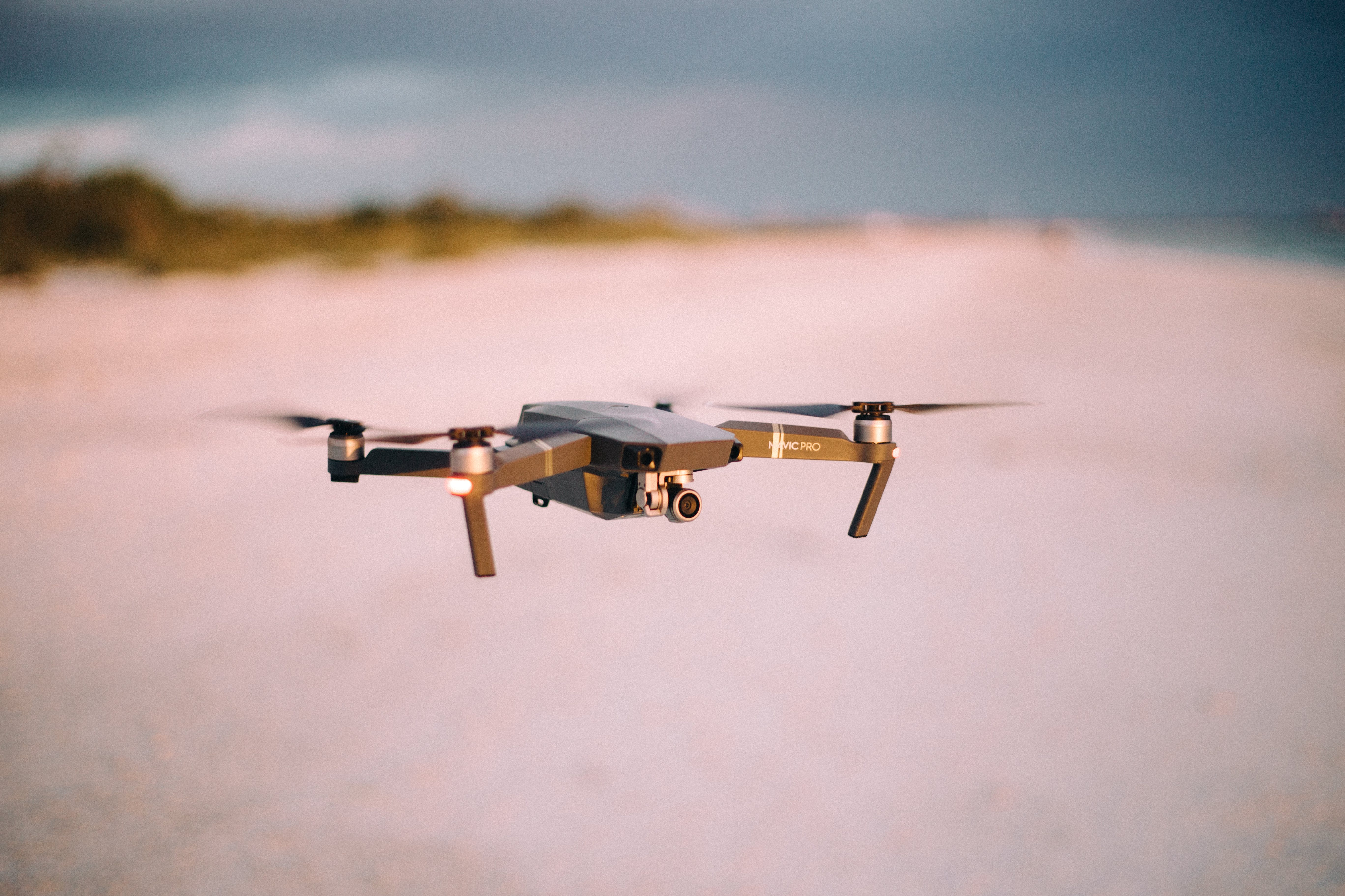 Drone Flight over the Sand