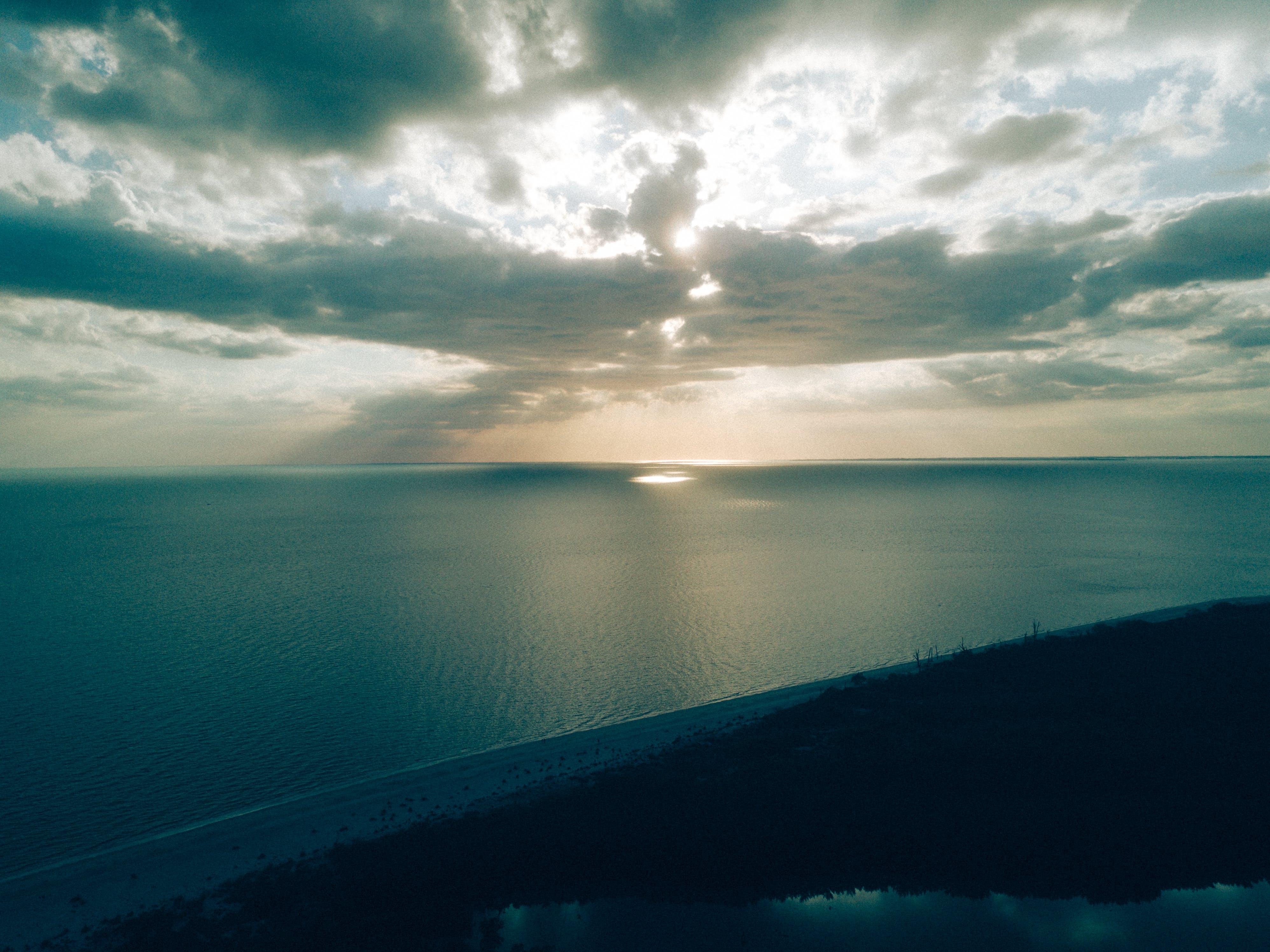 가벼운, 구름, 물, 바다의 무료 스톡 사진