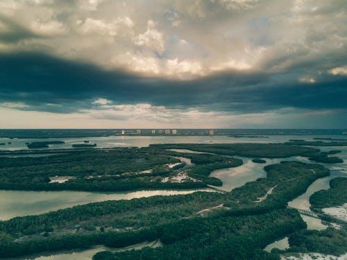 Fotos de stock gratuitas de agua, cielo, desde arriba, escénico