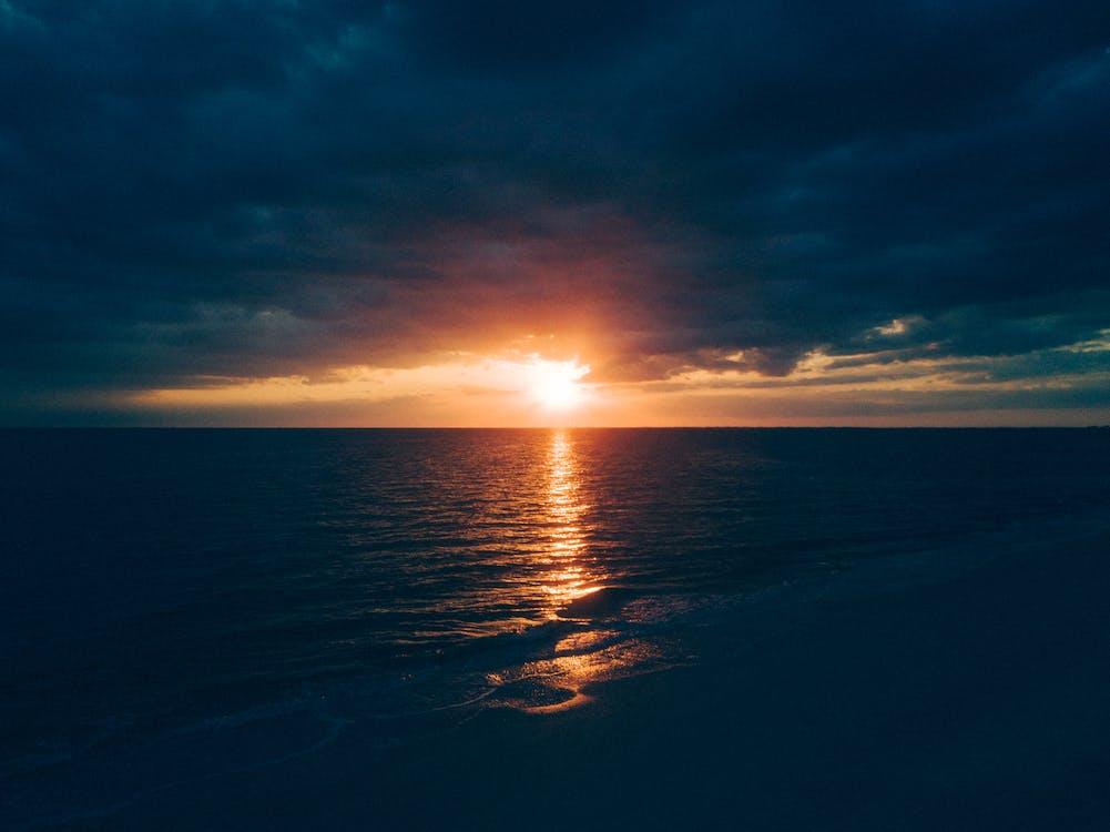 gryning, hav, havsområde