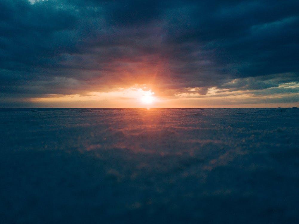 ánh sáng, bầu trời, biển