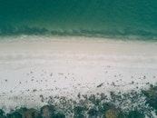 sea, bird's eye view, nature