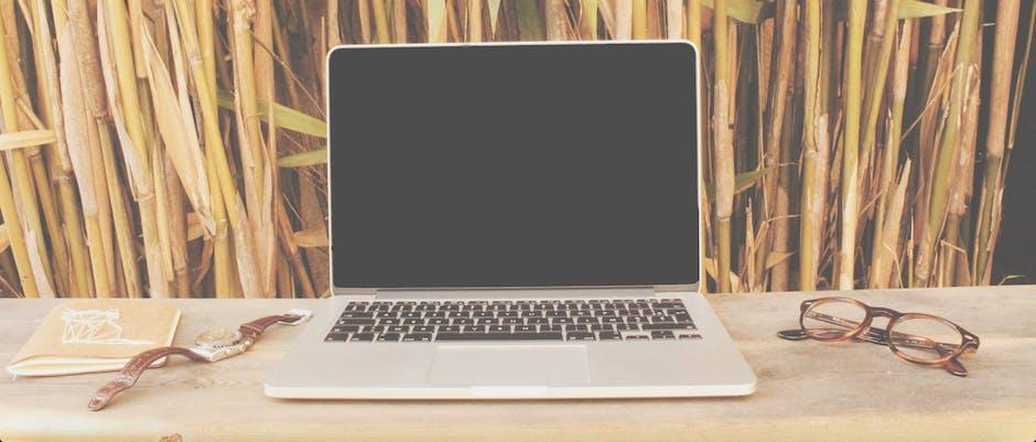 New free stock photo of desk, laptop, wristwatch