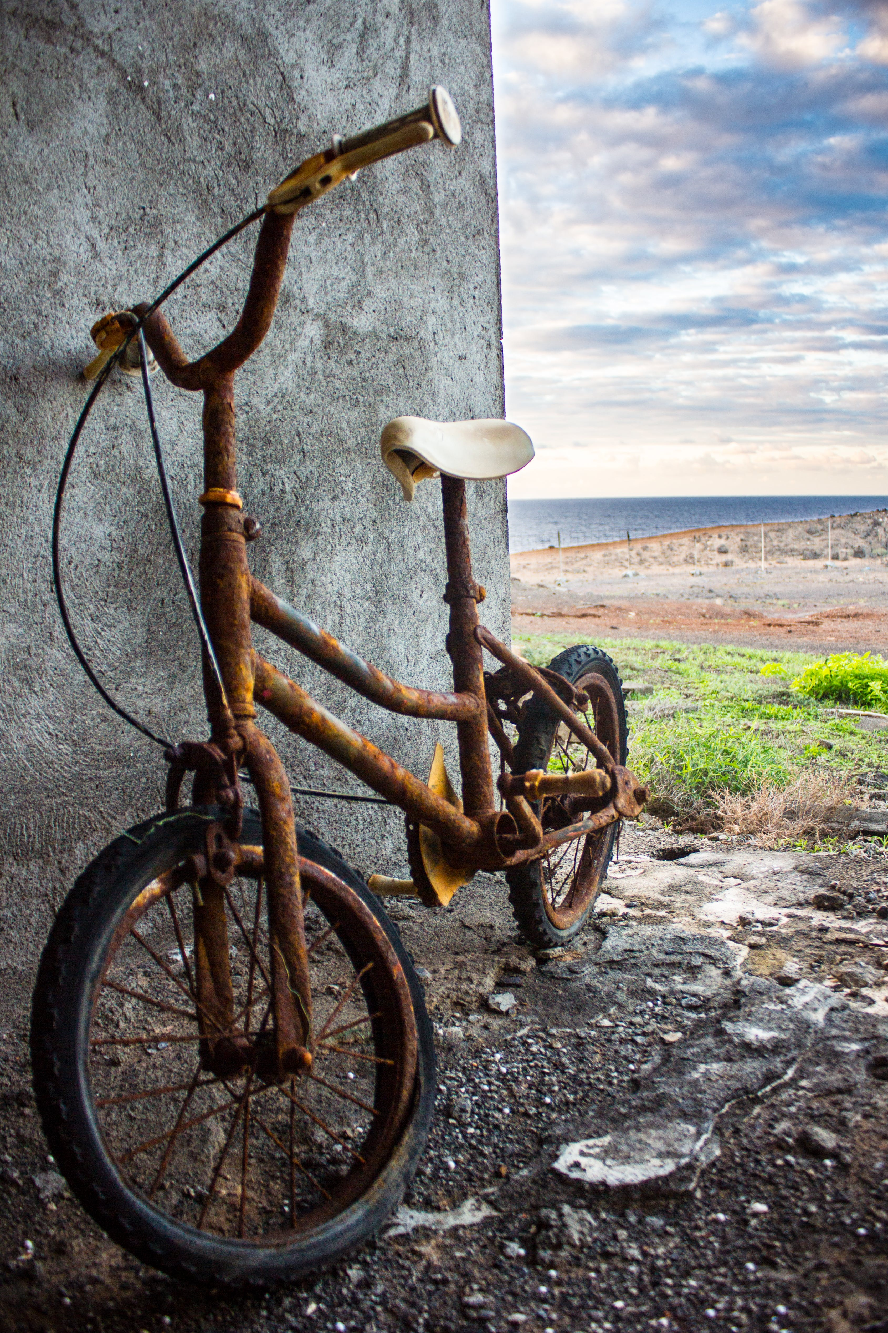 Free stock photo of abandoned, bicycle, little, old