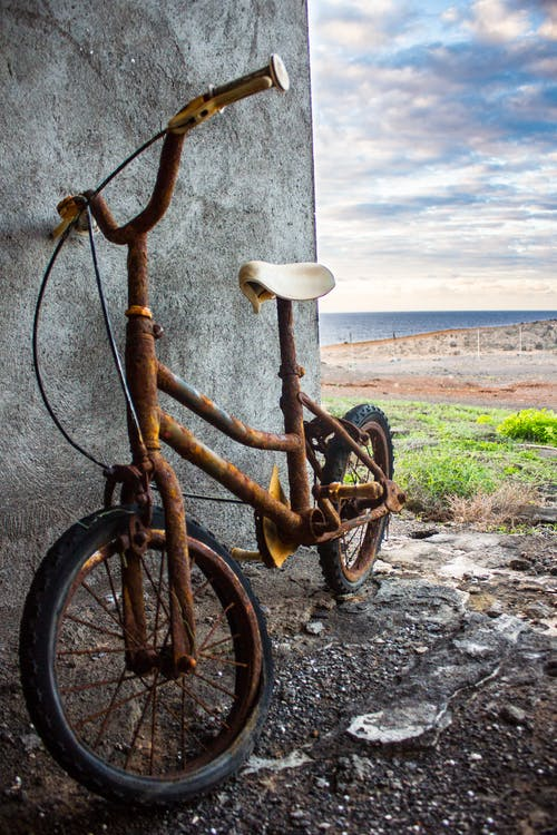 Free stock photo of abandoned, bicycle, little, oxide