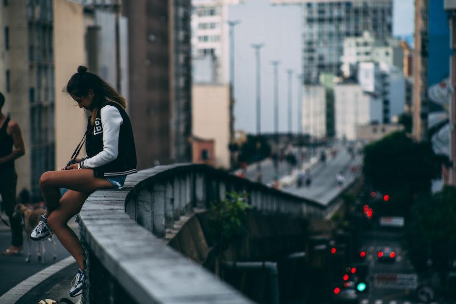 bridge, city, downtown