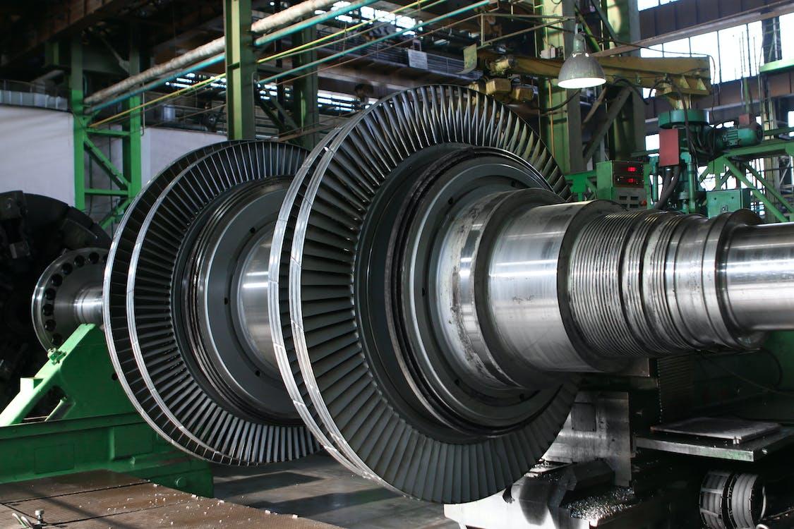 Silver Metal Engine Gears