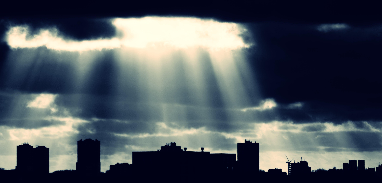 Foto profissional grátis de alvorecer, cidade, edifícios, escuro